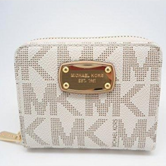 MK white wallet